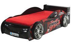 Lit voiture de course 90x200 cm bois noir Mira