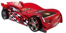 Lit voiture de course 90x200 cm bois rouge Spider