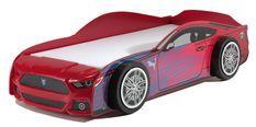 Lit voiture de course 90x200 cm bois rouge Panther