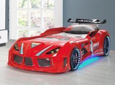 Lit voiture de course Road rouge à Led 90x190 cm