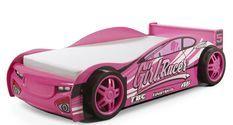 Lit voiture de course rose Turbo