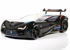 Lit voiture de course V5 noir