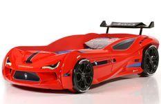 Lit voiture de course V5 rouge