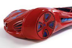 Lit voiture enfant futuriste rouge à Led avec effets sonores 90x190 cm