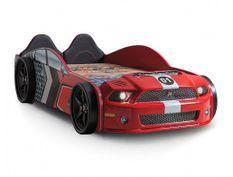 Lit voiture enfant Mustang rouge