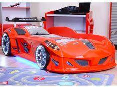 Lit voiture formule 1 rouge 90x190 cm