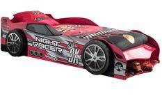 Lit voiture Formule 1 rouge à Led 90x200 cm