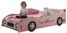 Lit voiture princesse rose Kizza 90