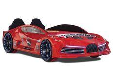 Lit voiture de sport rouge speeder 90x190 cm