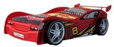 Lit voiture rouge Race 90x200 cm