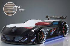 Lit voiture à Led Speedy noir 90x190 cm