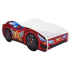 Lit voiture top car mélaminé rouge 80x160 cm