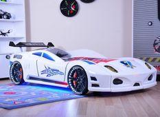 Lit voiture turbo V7 blanc à Led