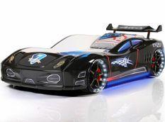 Lit voiture turbo V7 noir à Led