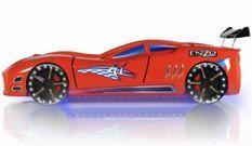 Lit voiture turbo V7 rouge à Led