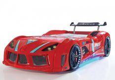 Lit voiture turbo V8 rouge à Led 90x190 cm