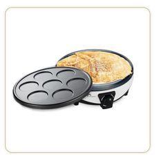 LITTLE BALANCE 8212 Crepiere Duo 1000, Crepiere électrique 2 en 1, Crepes & Pancakes, 2 plaques anti-adhésives, 1000 W, Noir/Blanc