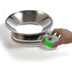LITTLE BALANCE Balance de cuisine 8411 Kinetic XS Bol - Sans pile - Rechargeable par son bouton - 5 kg / 1 g - Bol inox