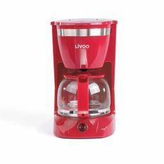 LIVOO DOD163R Cafetiere électrique - Rouge