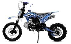 Tonado 125cc 4 temps 14/12 e-start semi automatique bleu Dirtbike