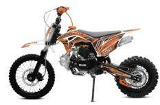 Tonado 125cc 4 temps 14/12 e-start semi automatique orange Dirtbike