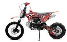 Tonado 125cc 4 temps 14/12 e-start semi automatique rouge Dirtbike