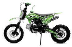 Tonado 125cc 4 temps 14/12 e-start semi automatique vert Dirtbike