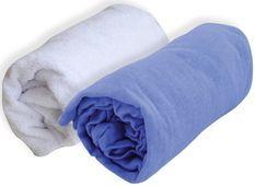 Lot 1 alèse 1 drap housse bébé 60 x 120 cm bleu jean Doux nid
