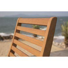 Lot de 2 chaises de jardin pliantes en Acacia FSC - 47 x 57,5 x H.89,5 cm