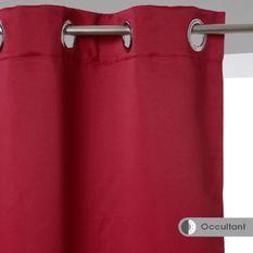 Lot de 2 Rideaux occultant - 135 x 240 cm - Rouge