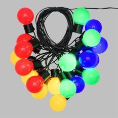 LOTTI Guirlande lumineuse d'été LED - 10 m - Ø50 x H60 mm - Multicolore