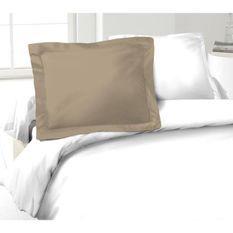 LOVELY HOME Lot de 2 Taies d'Oreillers 100% coton 50x70 cm - Beige