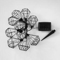 LUMIJARDIN Guirlande solaire cage diamant d'extérieur mily avec 10 ampoules LED