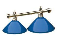 Luminaire laiton 2 globes Bleu