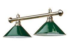 Luminaire laiton 2 globes Vert