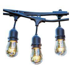 LUMISKY Guirlande décorative vintage 10 ampoules a filament sur secteur 7m