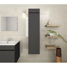 Colonne de salle de bain L 25 cm - Gris mat