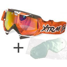 Lunette moto cross Xtrm orange