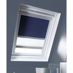 MADECO store enrouleur de toit double plisse occultant bleu m08
