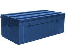 Malle acier bleu Dax L 101 x H 41 x P 56 cm