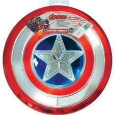 MARVEL Bouclier en plastique métallisé Captain América - 30 cm - Rouge