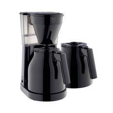 MELITTA Easy Therm II - Cafetiere filtre 1L - 1050 W + 2eme verseuse - Noir