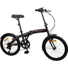 MERCIER Vélo Pliant 20 6 vitesses indexées - Freins Vbrake - Noir