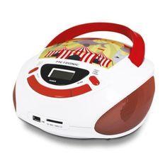 METRONIC 477145 Radio CD enfant style Circus - rouge et blanc