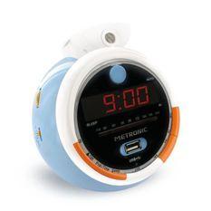 METRONIC Le Petit Prince Radio réveil FM USB projection double alarme