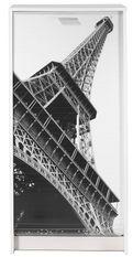 Meuble à Chaussures blanc imprimé Tour Eiffel 21 paires Shoot