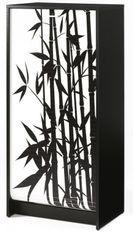 Meuble à chaussures noir imprimé bambous 21 paires Shoot