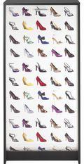 Meuble à chaussures noir imprimé chaussure 21 paires Shoot