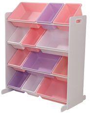 Meuble de rangement 12 casiers couleurs pastels Kidkraft 15450