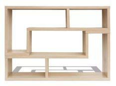 Meuble de rangement modulable bois chêne clair Chickie L 120 x H 56/28 x P 30 cm